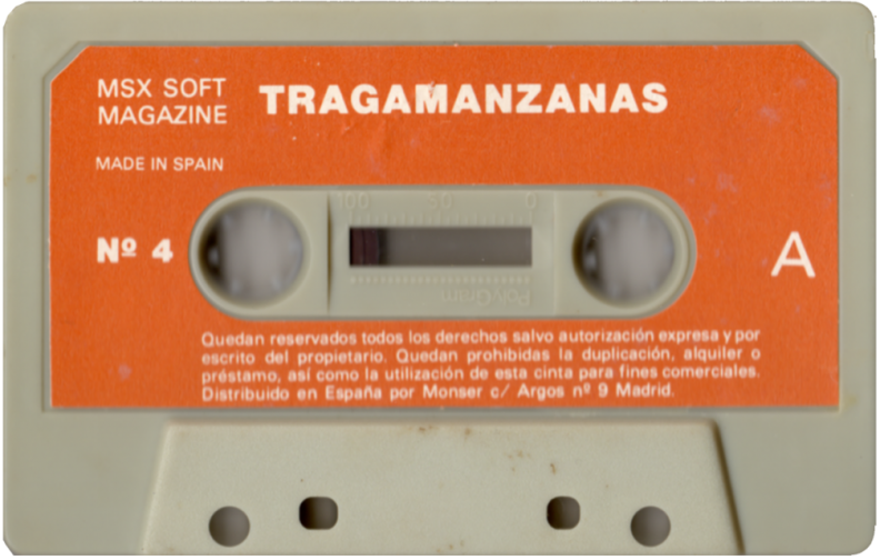 MSX Software Nº4 Tragamanzanas (Normal) Cara A.png