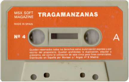 MSX Software Nº4 Tragamanzanas (Normal) Cara A