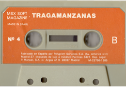 MSX Software Nº4 Tragamanzanas (Normal) Cara B